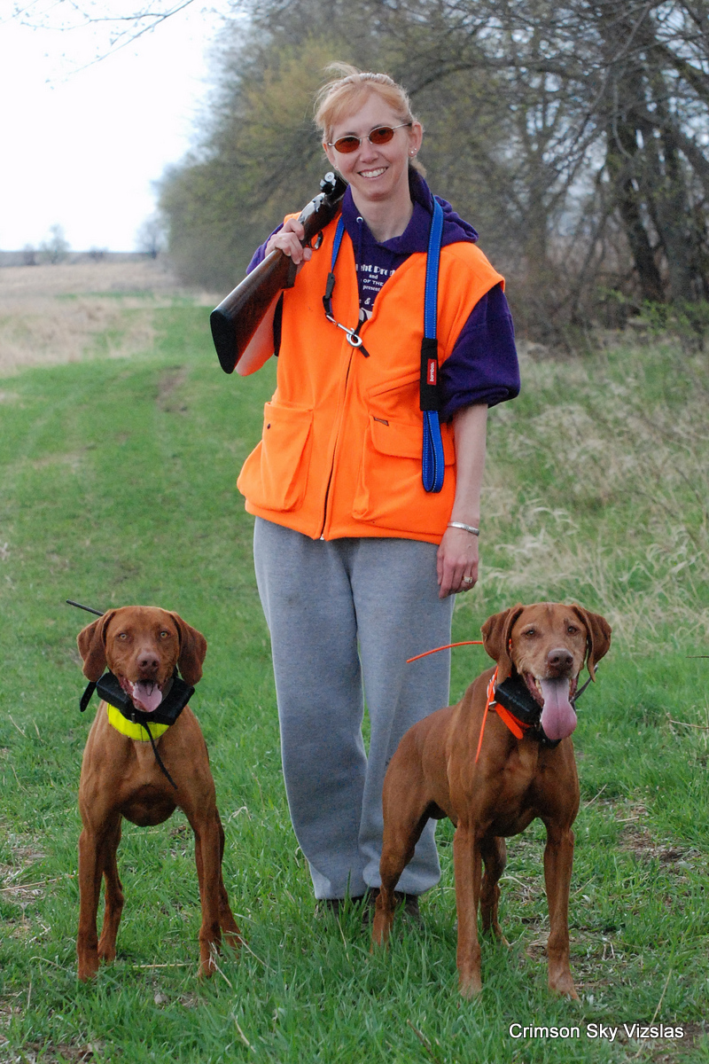 Pam and Mark Pheasant hunting