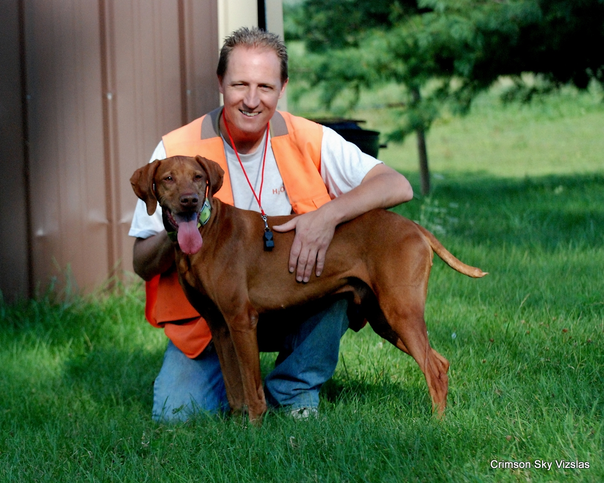 Mark with Ruger after some dog training