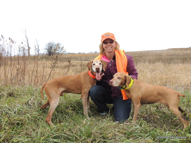 Pam with Ruger and Holly