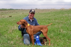 Ruger 1st at Hawkey vizsla club Thayer Iowa