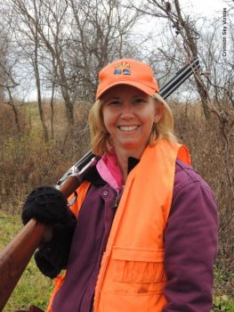 Pam out for a hunt with Mark